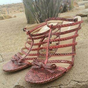 🌏 Via Spiga snakeskin sandals
